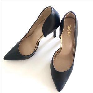 """MERONA """"Lainee"""" Black Point Toe Pumps/Heels 8"""